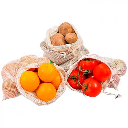 bolsas organicas de algodon para fruta verduras
