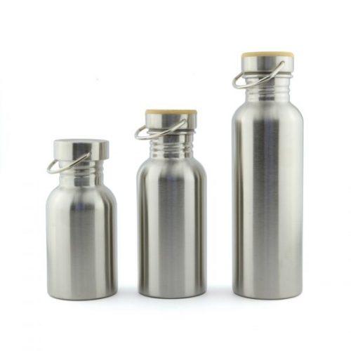 botellas de acero inoxidable
