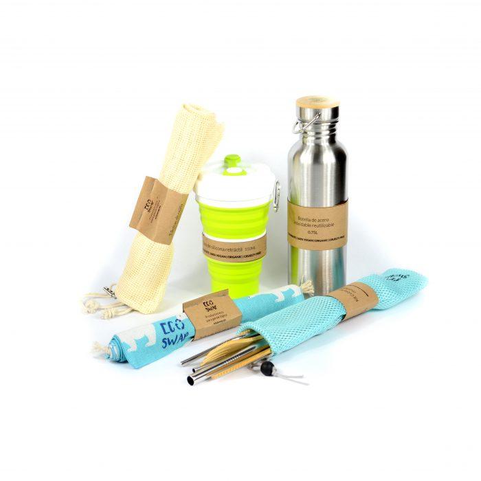 kit productos sin plástico zero waste reutilizables