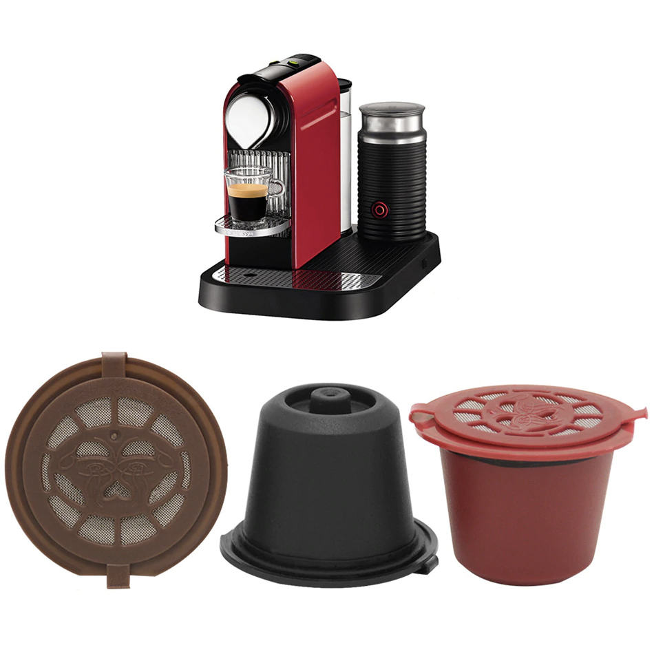 C/ápsulas de Repuesto Reutilizables para m/áquinas de Nespresso C/ápsulas de caf/é Recargables Nespresso de Acero Inoxidable para Rellenar de caf/é 2 c/ápsulas.